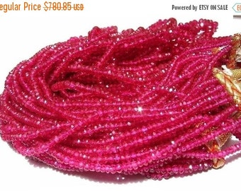55% OFF SALE Buy Wholesale Lot - 10x14 -140 Inches of Sparkling and Lustrous Rubellite Pink Corundum Quartz micro faceted rondelles  Size 3-