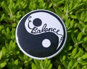 "BALANCE 1.5"" Button: Bold, Hand-Drawn Design"