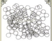 100 Stainless Steel 7mm Jump Rings - 7mm Surgical Steel Jump Rings