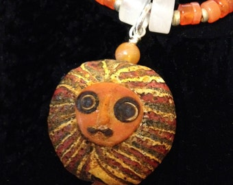 Balinese Face Bead - Double Sided