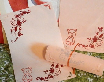 FOX Kitsune TOTEM Magic Spell SPIRIT Animal Parchment Peach, Pagan, Fairy, Wicca