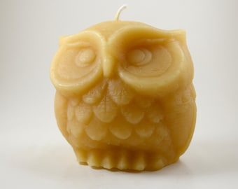 Beeswax Owl Candle