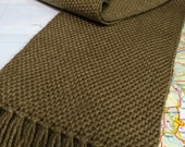 camel: handwoven solid color scarf