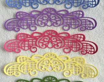 Scrapbook Borders...5 Piece Set of Very Pretty Spring Colours Scrapbook Border Embellishments