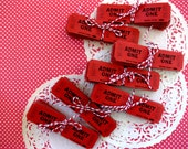 Vintage Red Admit One Carnival, Party Tickets, Two Bundles, 60 Tickets for Packaging, Labels, Parties, Valentine Cards