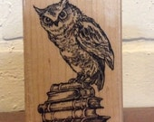 Stampendous Literary Owl Booklovers Stamp