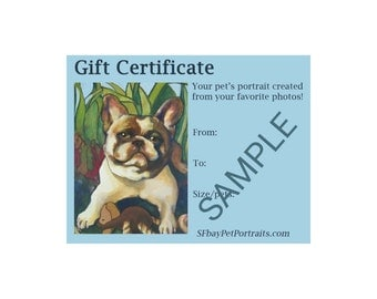Gift Certificate:Instant Download!