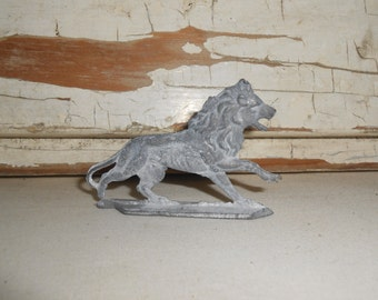 Vintage Lead Lion Figurine