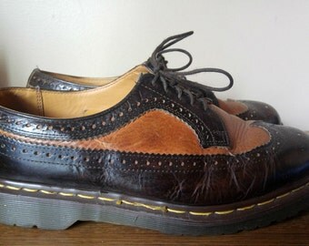 Mens Two Tone Wingtip Oxford Style DOC MARTENS 9