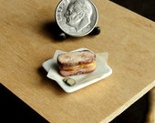 Dollhouse Miniature Roast Beef Sandwich