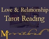 Love Tarot Reading and candle - Intuitive Reading - Boyfriend Girlfriend Lovers 4 cards on relationships, emailed with photo of your cards