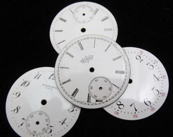 Vintage Antique Watch Dials Steampunk Faces Parts Enamel Porcelain Metal WC 40