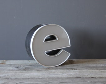 "Industrial ""e"" Sign Letter"