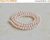 Mega SALE Freshwater Pearl Pastel Pink Roundish Oval 5mm 80 beads Full Strand