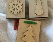 3 Wooden Christmas Boxes