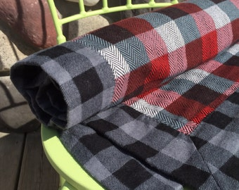 Double Layer Plaid Flannel Baby Blanket