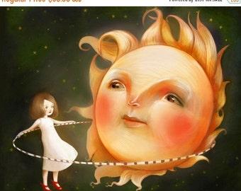 ON SALE The Goldilocks Zone 11X14 print --  sun art moon art  space art for kids childrens decor  astronomy wall art by Meluseena
