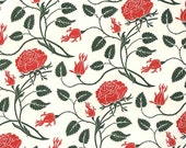 Made In Italy Authentic Florentine Paper Traditional Print Letterpress Red Roses By Rossi  LTP01R