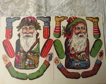 Germany Reprint Circa 1897 2 Santa Claus Jumping Jacks For You To Make