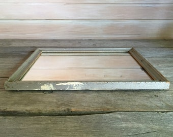 rustic little mirror