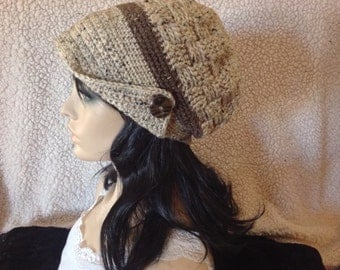 Slouchy hat with brim ! -Handmade