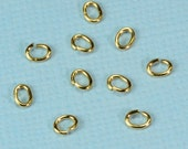 3MMx4MM 14k Solid Yellow Gold Open Jump Rings (10)