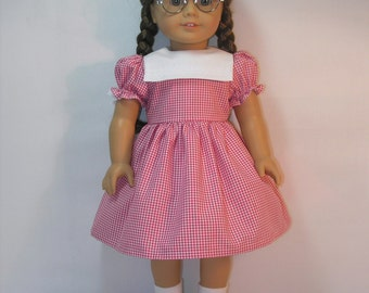 1944-1043  WWII Era Dress for Molly, Emily or other American Girl doll