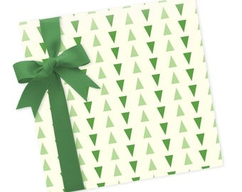 Triangle Trees - Wrapping Paper