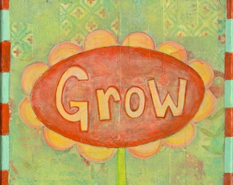 Grow Collage Painting