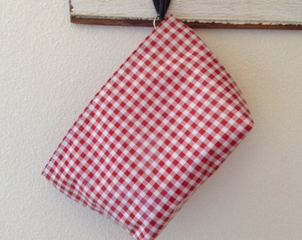 Beth's Medium  Gingham Oilcloth Cosmetic Bag