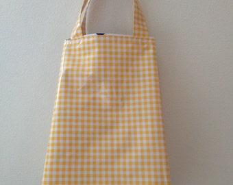 Beth's  Gingham Oilcloth Market Sac Tote Bag
