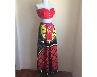 1970s Marimekko Vibrant Abstract Skirt