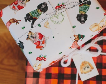 Holiday Dogs Gift Wrap