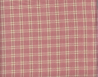 Moda Wild Orchid 2776 15 Plaid Pattern on Cream by the yard