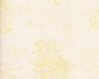 P & B Textiles Sweet Escape 536 E Cream Colored Floral by the yard