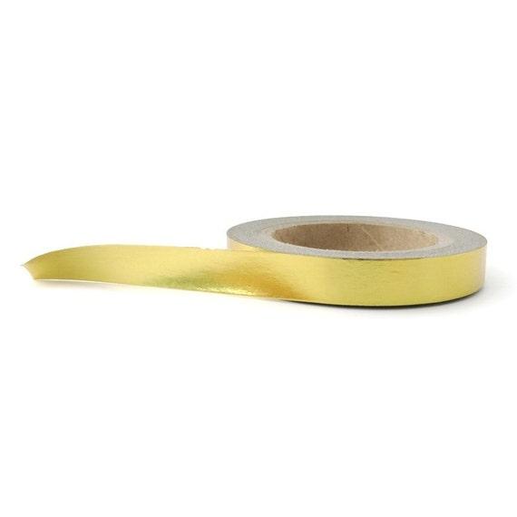 Llano la hoja de oro Washi Tape  flaco Washi Tape  por WashiGang