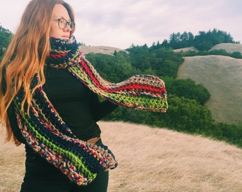 Super Extra Long Scarf. Handmade / Unisex / Chunky / One of a kind and Ready to Ship