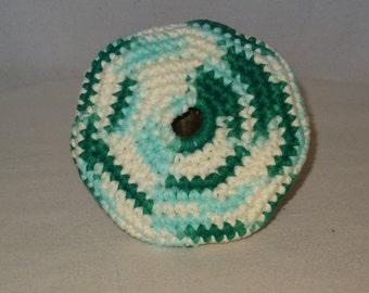 Green Blue and White Pocket Frisbey Fun in The Sun Frisbee For Your Dog