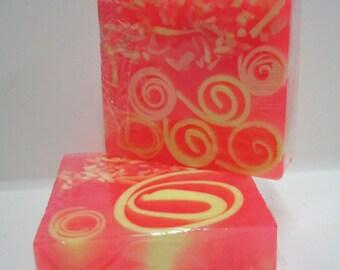 Handmade Glycerin Soap Bar - Juicy Peach Scented Soap