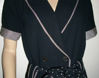 Perfect vintage 80s ESCADA Margaretha Ley black designer dress 38 8