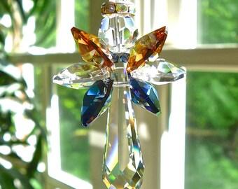 Crystal Car Angel, Angel Car Charm, Rearview Mirror Guardian Angel, Entirely Swarovski Crystal, Choose Any 2 Colors