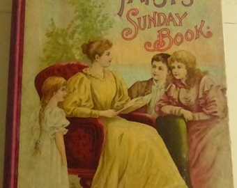 Antique Book Pansy's Sunday Book by Famous American Writers by Isabella MacDonald Alden Lothrop Publishing 1895