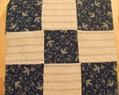 """25 Vintage 9"""" Quilt Blocks. Indigo Blues and Shirtings. Late 1800's- Early 1900's"""