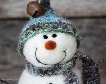Needle Felted Snowman | felted wool snowmen  765