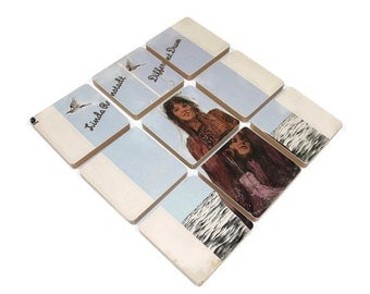 Linda Ronstadt recycled Different Drum album cover coasters with wacky vinyl bowl