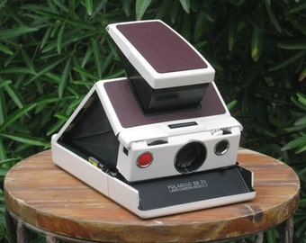 Vintage Working Polaroid SX-70 Model 2 Camera with Case Reskinned and Film Tested