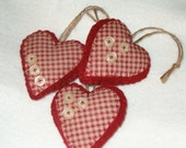 Prim Checkered button hearts, bowl fillers ,ornies, AB4B, OFG Team