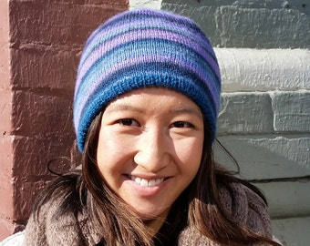 Reversible Two Hats in One Knit Pattern