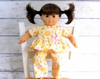 Bitty Baby Pajamas, 15 inch Doll Clothes, Babydoll PJs, fits Bitty Twin too!