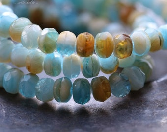 BRISK .. 30 Premium Picasso Czech Rondelle Glass Beads 3.5x5mm (4886-st)
